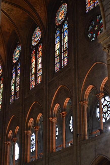 Inside Notre Dame, in Paris.